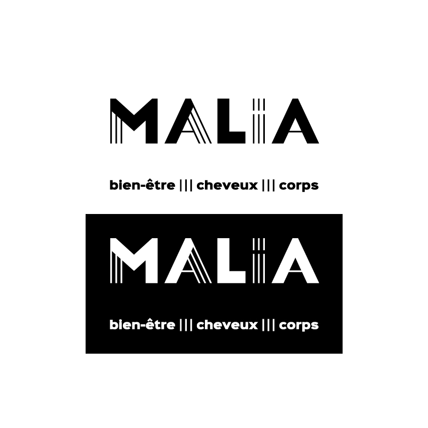 malia logo signature hélène laforêt graphiste
