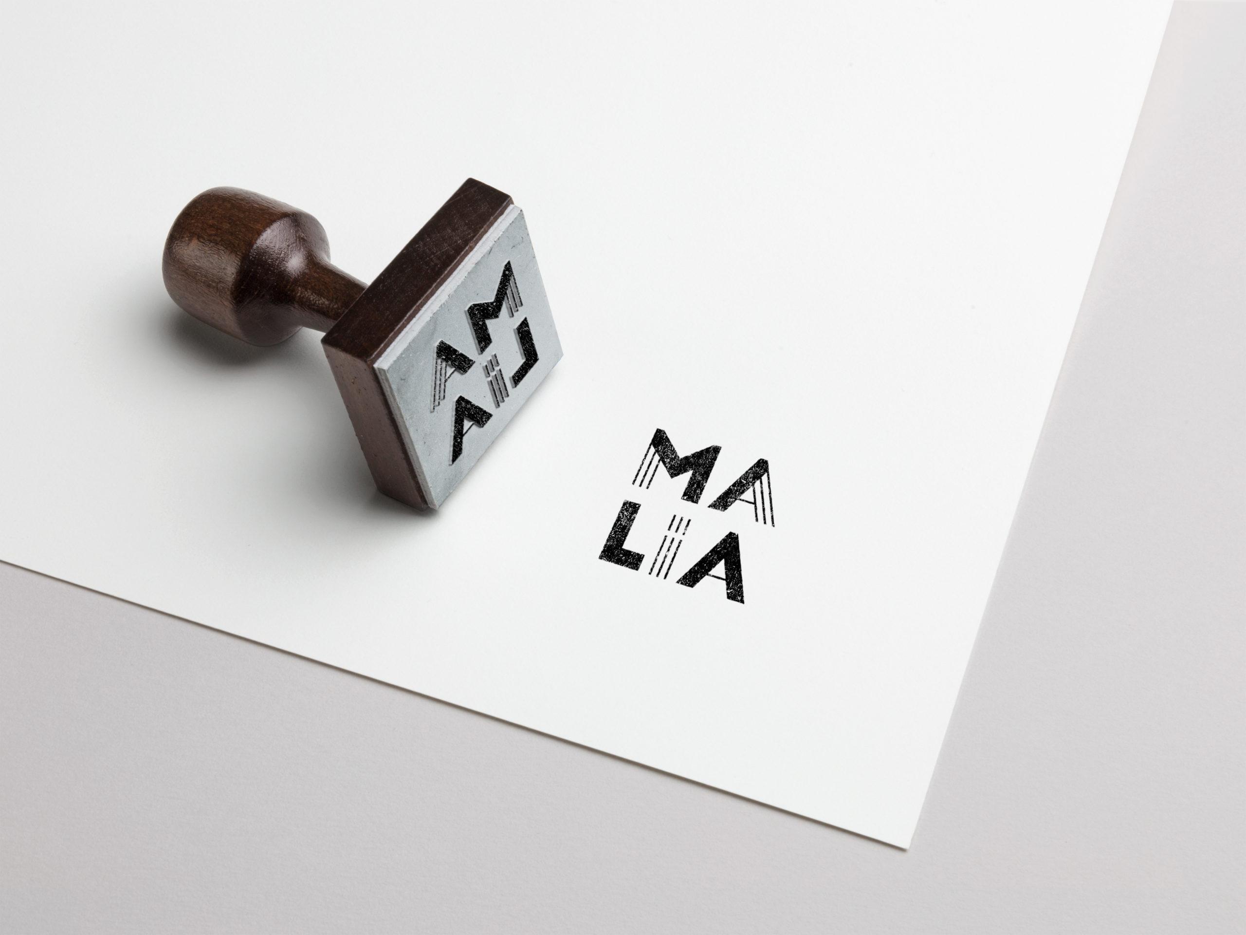 malia logo hélène laforêt graphiste