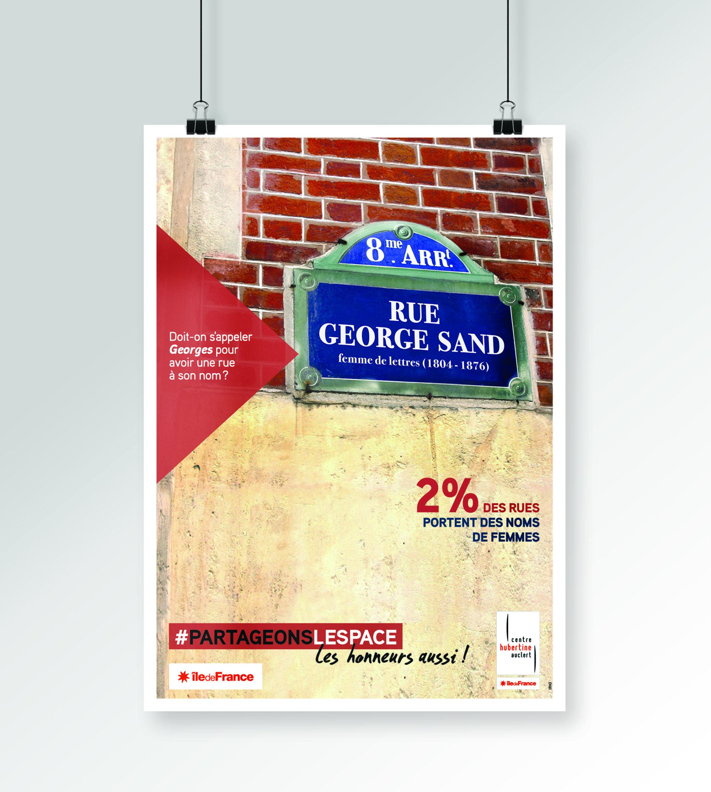 centre hubertine auclert poster hélène laforêt graphiste