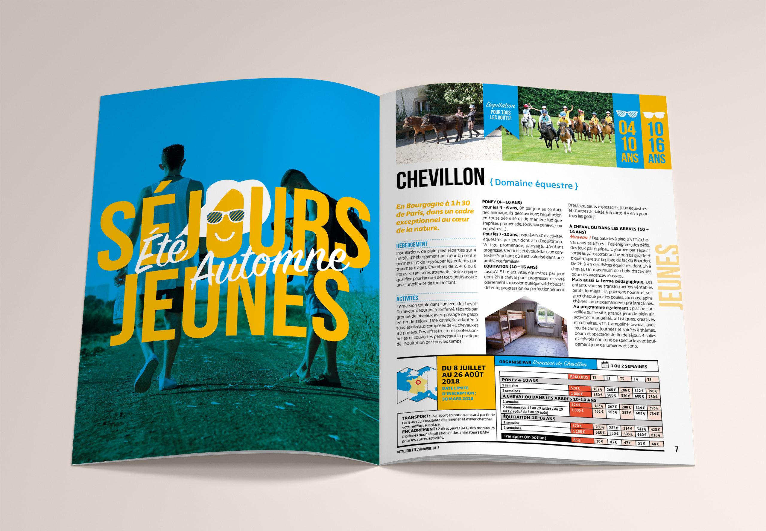 CDOS catalogue hélène laforêt graphiste
