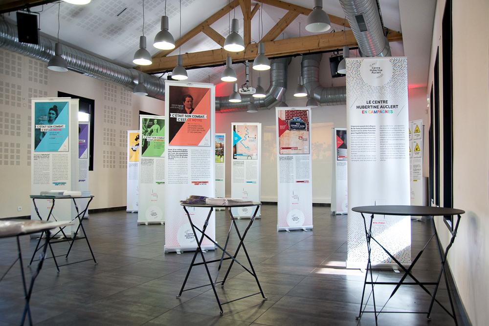 centre hubertine auclert exposition hélène laforêt graphiste